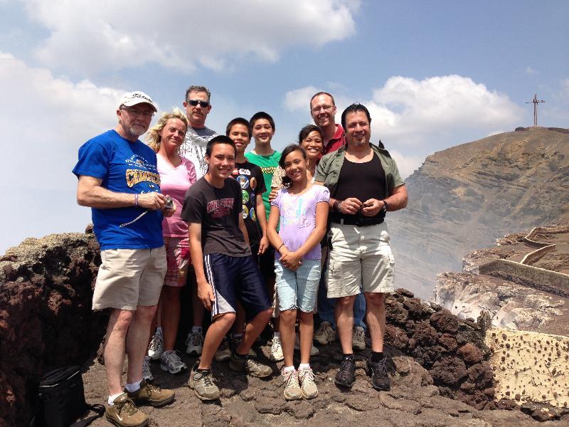 The team at Masaya Volcano