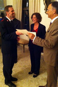 Italian Ambassador presents CEJI 'graduates' with certificates in Malta