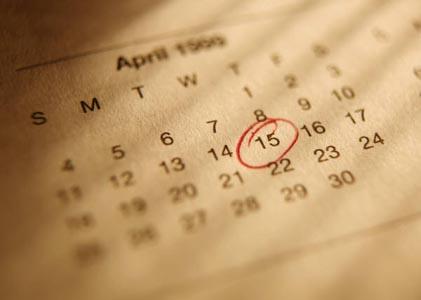 Mark You Calendar!