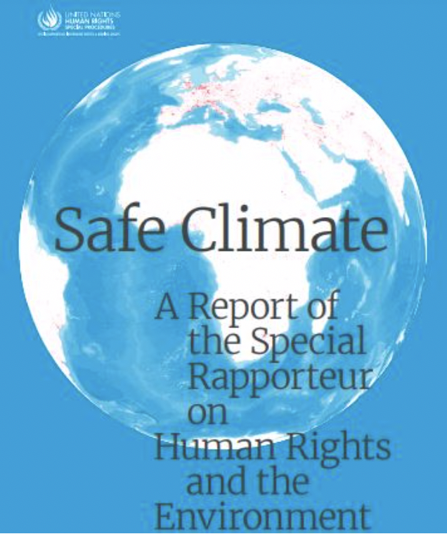 a safe climate as human rights report