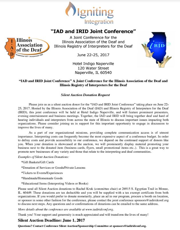 IAD and IRID conference flier