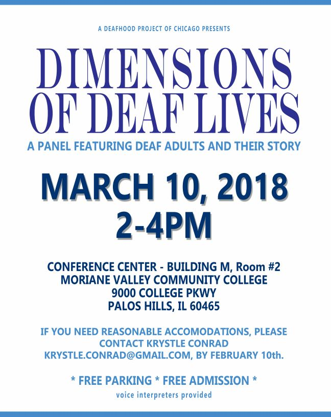 Dimensions of Deaf Lives flyer