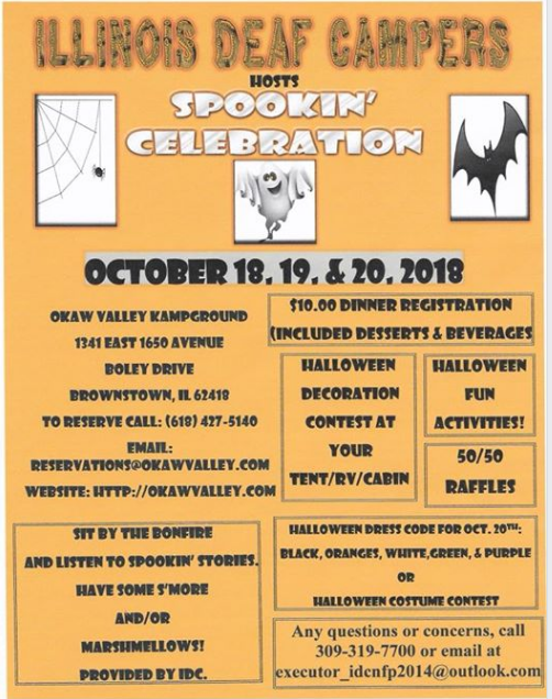 Flyer for Spookin' Celebration