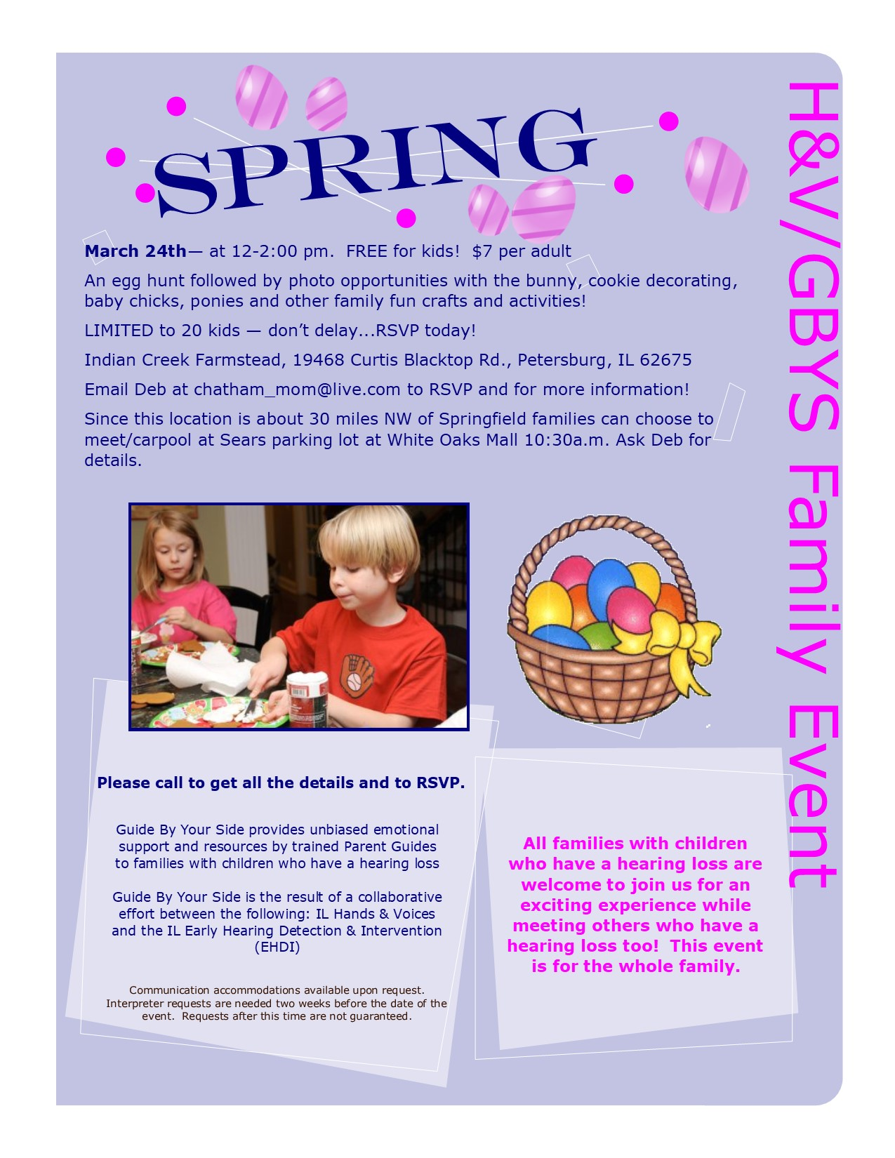 H&V/GBYS Spring Event Flyer