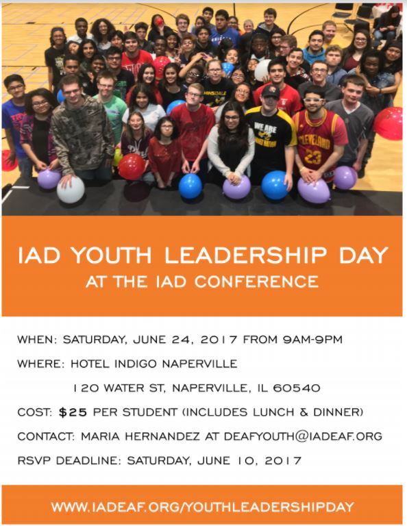 flyer for IAD Youth Leadership Day
