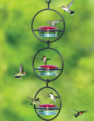 Triple Orb Hummingbird Feeder