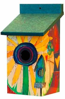 Sunflower Vinyl Birdhouse