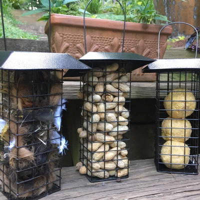 Multi-Use-Cage Bird Feeders- Set of 3