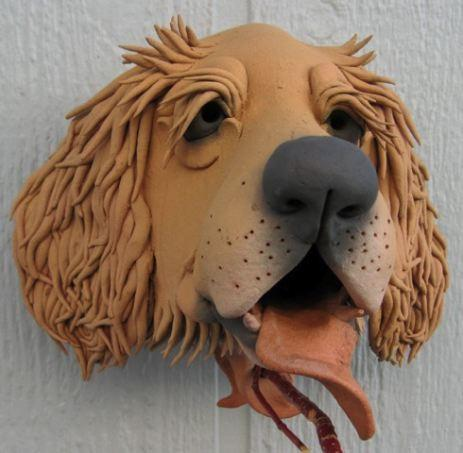 Ceramic Dog Bird Houses