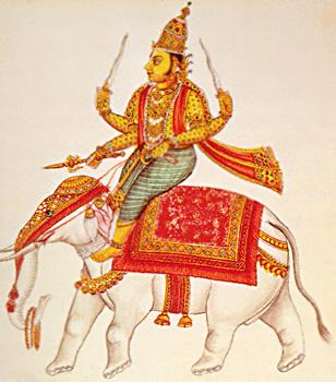 Indra - vedischer Gott des Feuers, des Regens und der Fortpflanzung