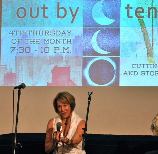 Susan Seliger invites musicians and storytellers up the the OPEN MIC at Out by Ten.