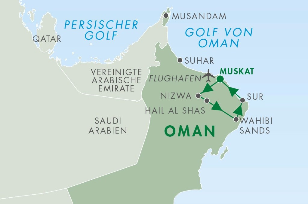 Reisen im Oman - Muskat Nizwa - Hail al Shas - Wahiba Sands - Sur - Reise Oman privat geführte Rundreise