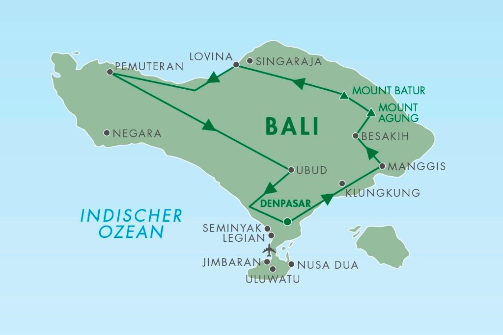 Rundreise Bali von Denpasar deutschsprachige Privatrundreise in Bali - Rundreise in Bali buchen mit Badeferien kombiniert