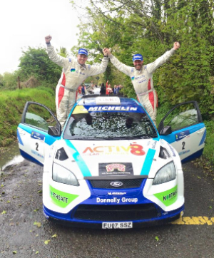 Donagh Kelly celebrates victory