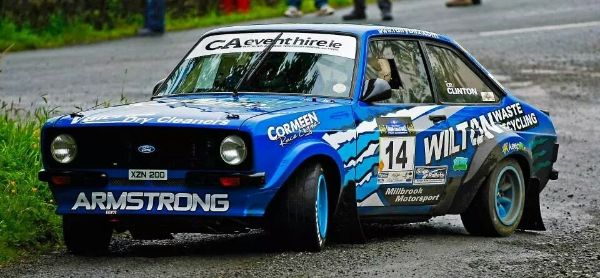 Chris Armstrong in his Ford Escort