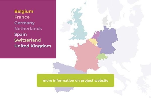 Belgium - France - Germany - Netherland - Spain - Switzerland - United Kingdom