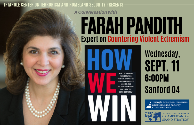 Farah Pandith: How We Win @ Rhodes Conference Room, Sanford 223