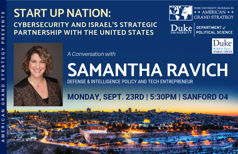 Cybersecurity and Israel's Strategic Partnership with the United States @ Sanford 04