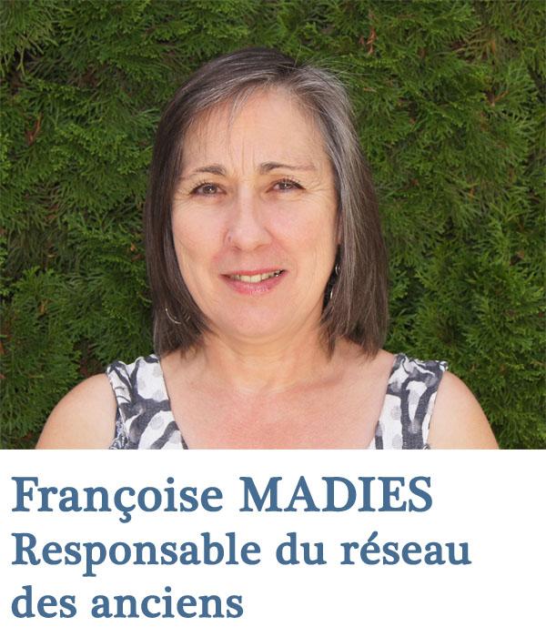 Françoise Madiès, Chargée du réseau des anciens de l'Ecole de Savignac