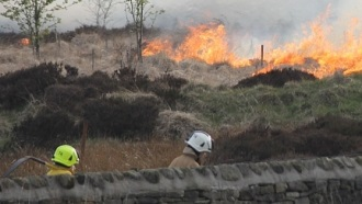 Moorland fire 2012