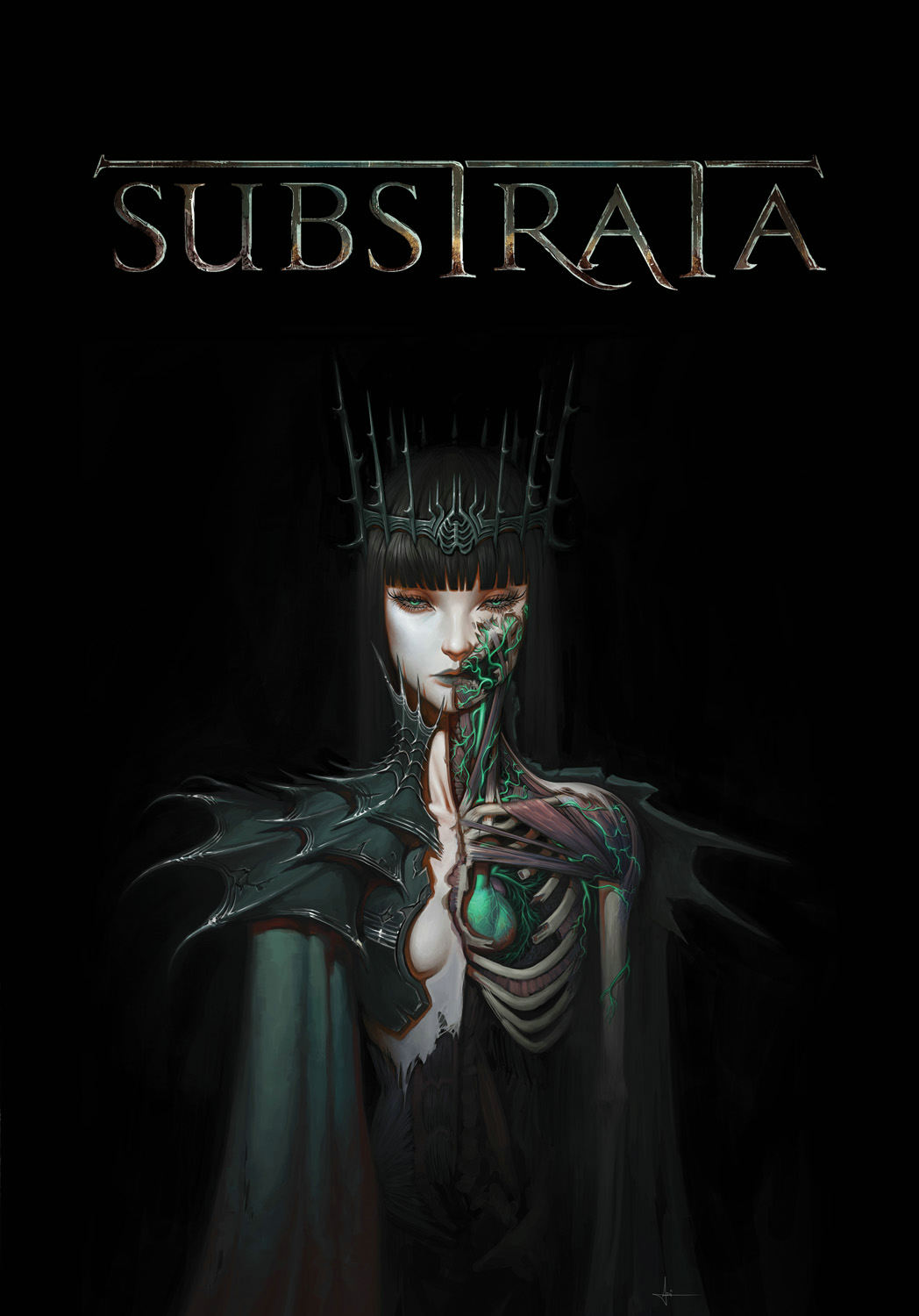 SUBSTRATA Cover Image by Adrian Dadich, text logo design by Michael Scala.