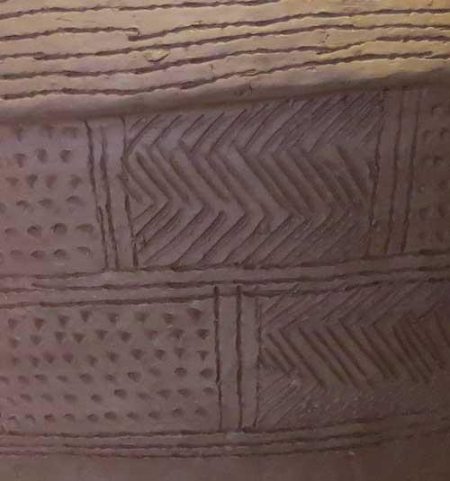 Grooved Ware Bucket - Detail