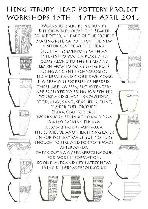 Hengistbury Head Pottery Workshops Flyer