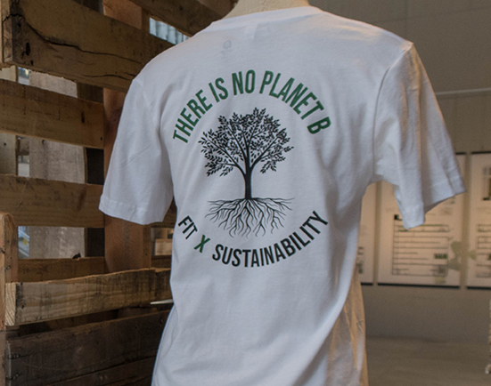 There Is No Planet B/FIT X Sustainability logo T-shirt