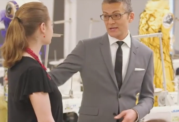 screenshot of Randy Fenoli with FIT student in classroom