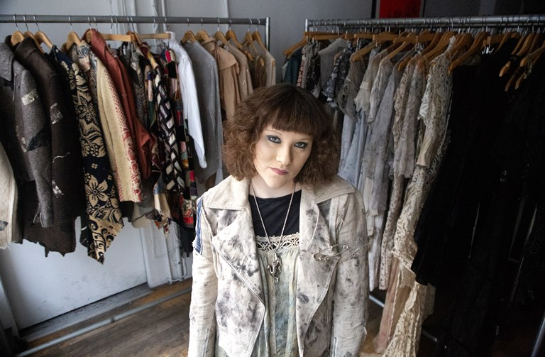 Mimi Prober poses for a portrait in her New York showroom.