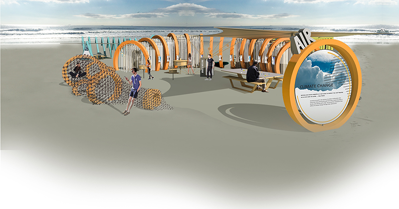 """The """"Air"""" portion of Mehmet's proposed exhibition, which would be mounted on a beach."""