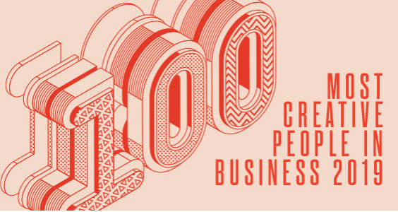 logo for Fast Company's 100 Most Creative People in Business 2019 series