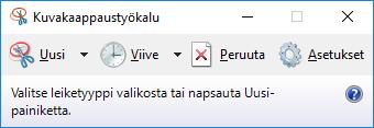 Tältä näyttää Windows-kuvankaappaustyökalu