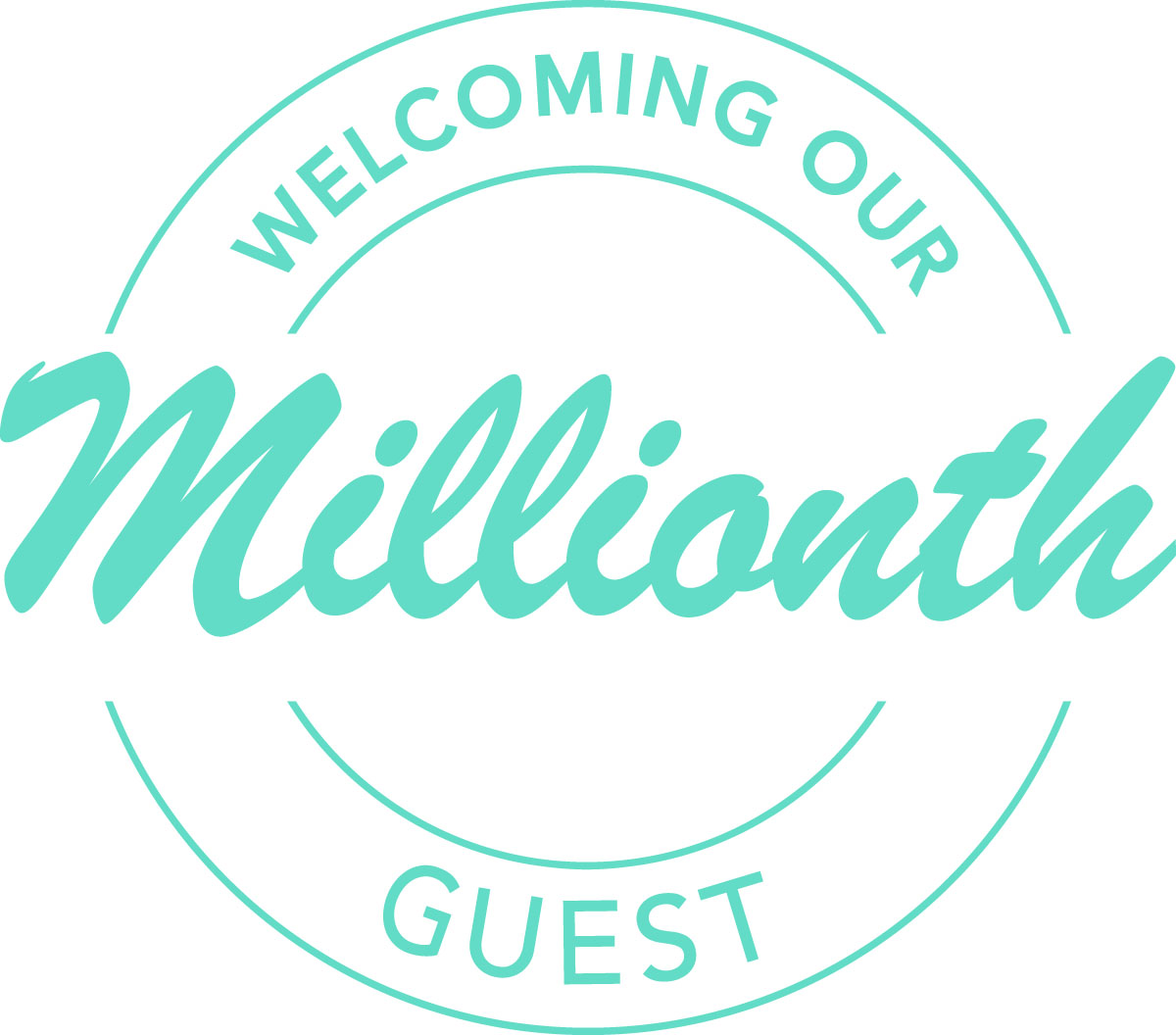 Welcoming our millionth guest...