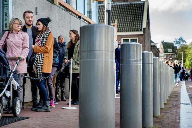Veiligheidspalen Anne Frankhuis