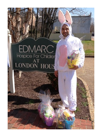 ERC staff members delivered Easter Baskets to local families at the Edmarc Hospice for Children