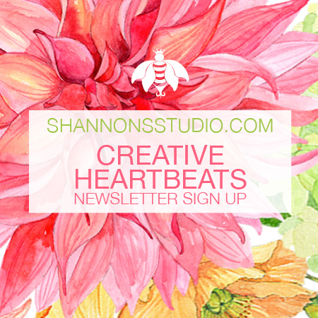 Shannon's Studio Creative Heartbeats Newsletter Signup