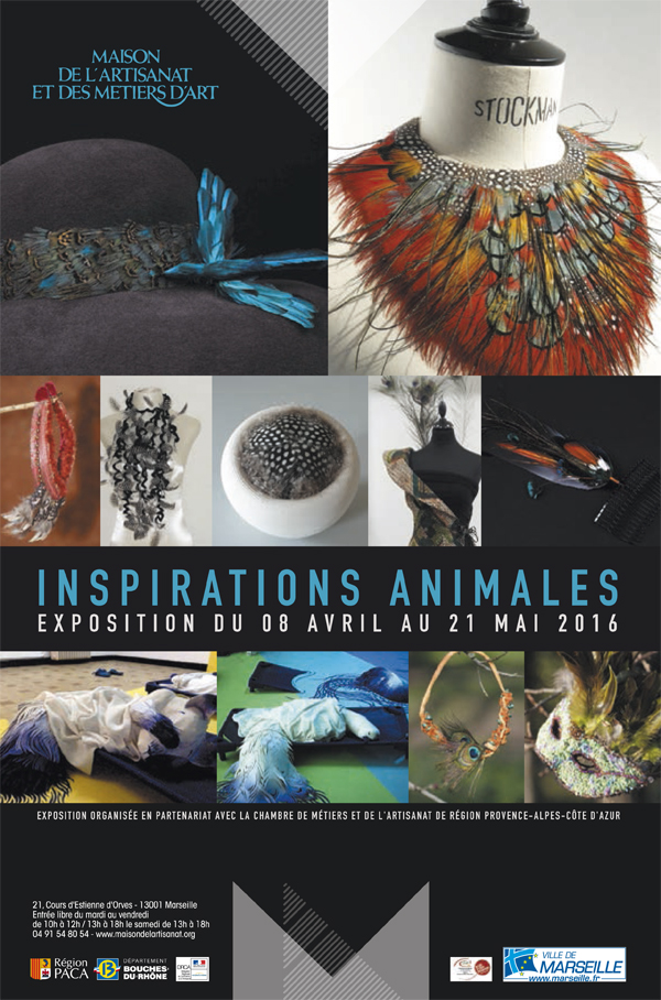 Affiche exposition Inspirations Animales