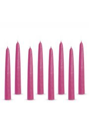 Zestaw 8 różowych świec