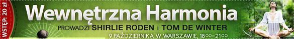 """""""Wewnętrzna Harmonia"""" 9 października w Warszawie >>"""