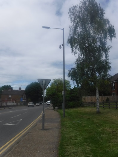 CCTV camera installation near Station Road roundabout