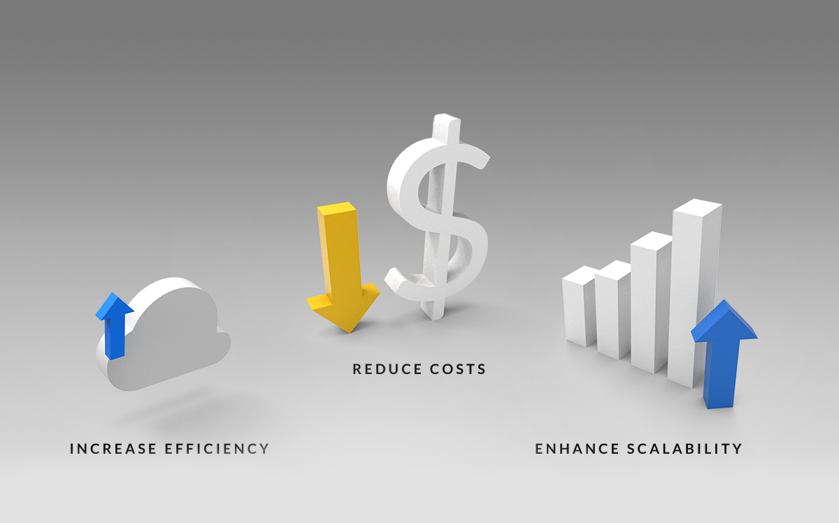 Increase efficiency, reduce costs, enhance scalability