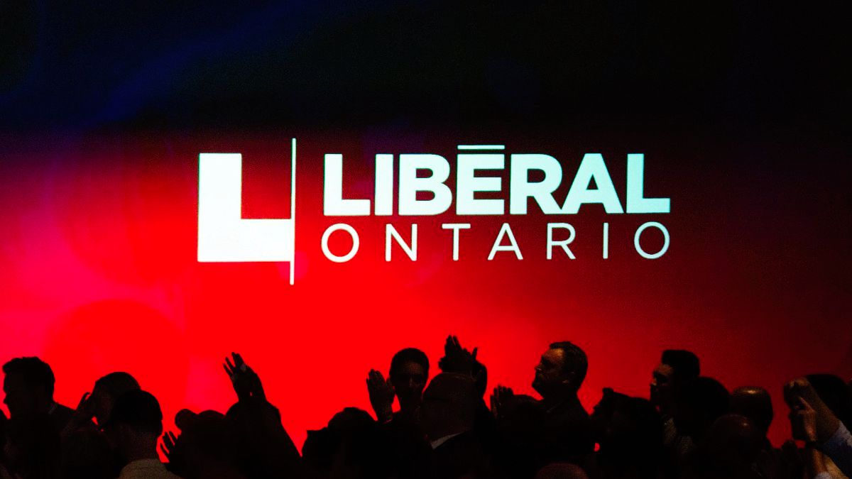 Liberal party members at a convention