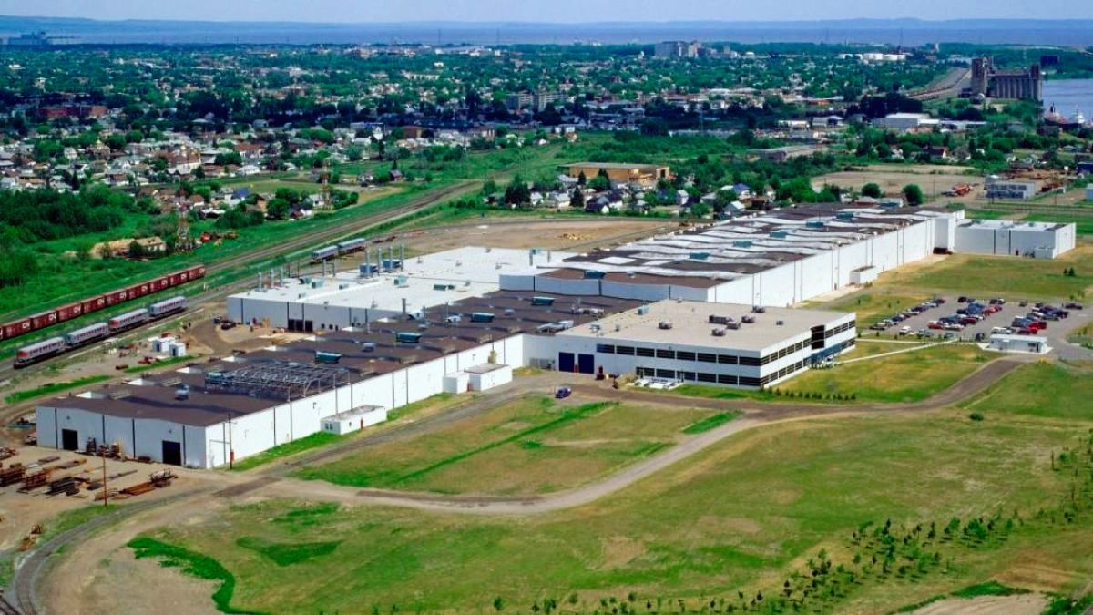 Bombardier production plant in Thunder Bay
