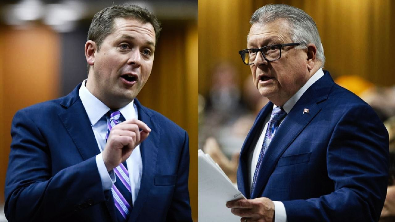 Andrew Scheer and Ralph Goodale