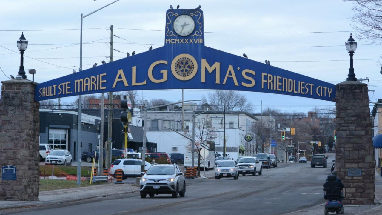 Sault Ste. Marie welcome sign