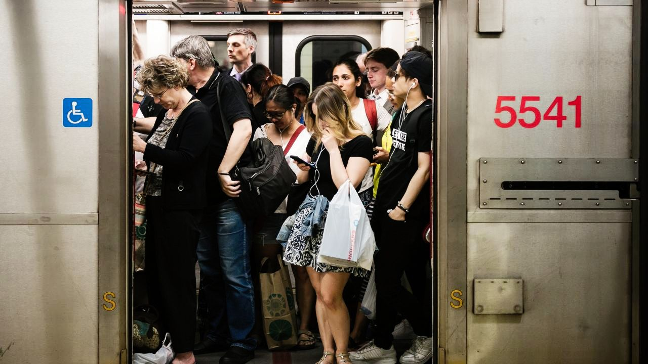people crowded on Toronto subway