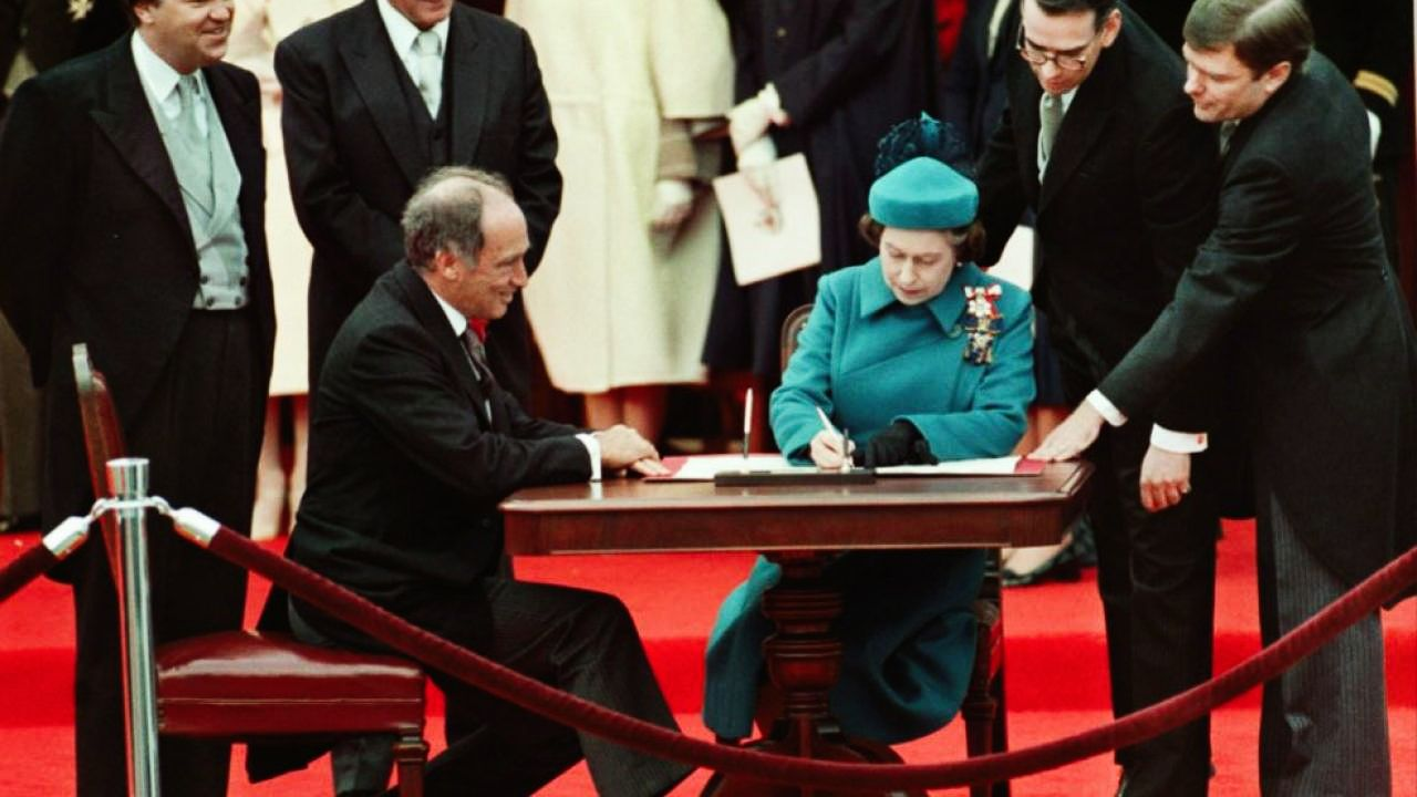 Pierre Trudeau and Queen Elizabeth