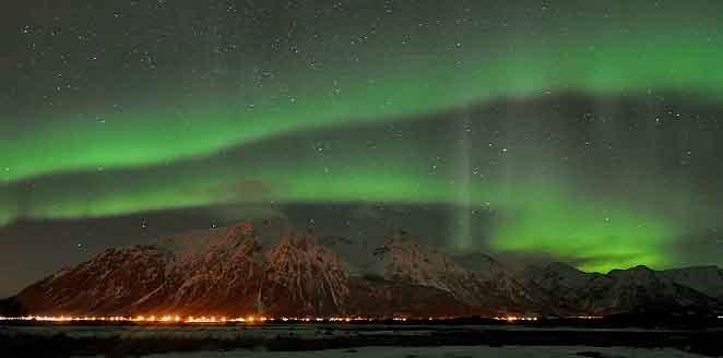 Lofoten, trineo de perros y auroras boreales