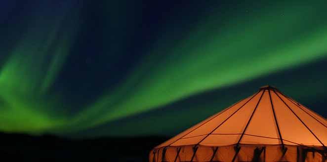 Auroras boreales y mundo inuit